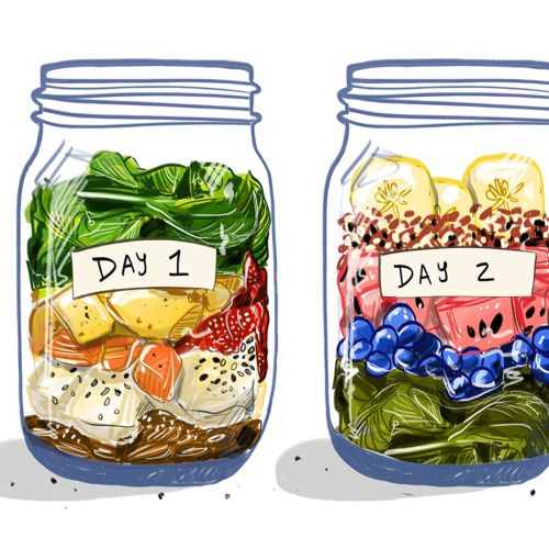 smoothie, jar, ingredients, food, meal, culinary
