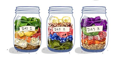 smoothie, jar, ingredients, food, meal, culinary