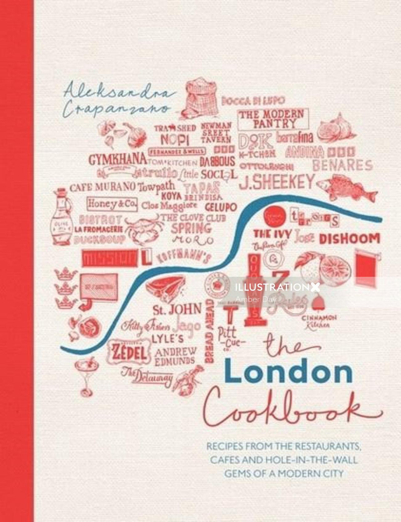 boo, cover, design, culinary, map, typography