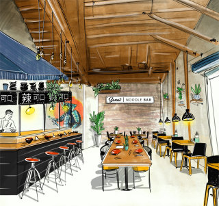 restaurant, interior