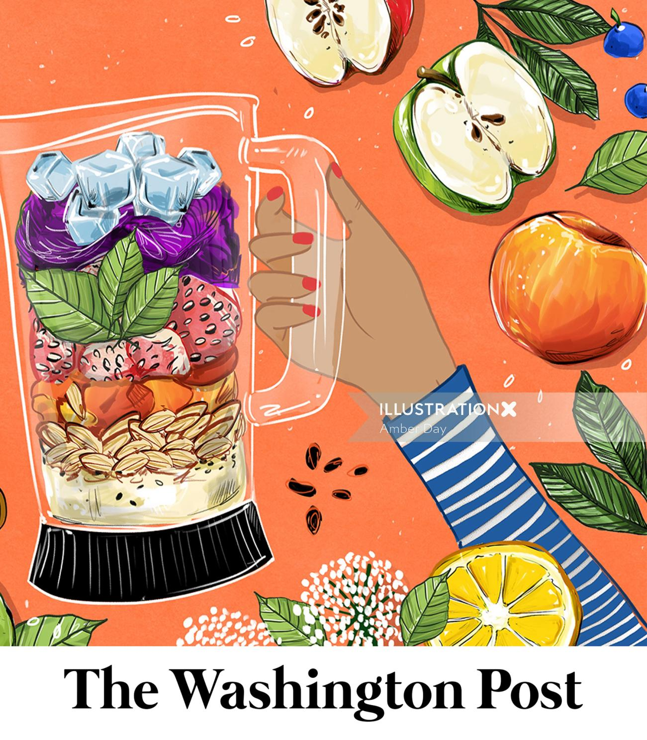 fruit, food, culinary, smoothie, healthy, editorial