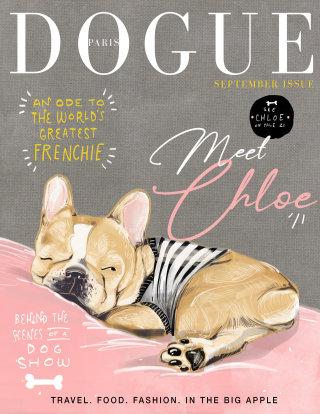 animal, pet, dog, canine, magazine, editorial, cover