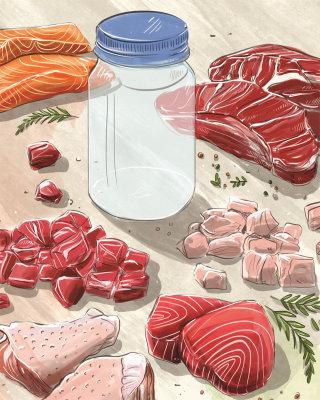 meat, culinary, streak, chicken, food, cooking, recipe, canning, jar, recipe