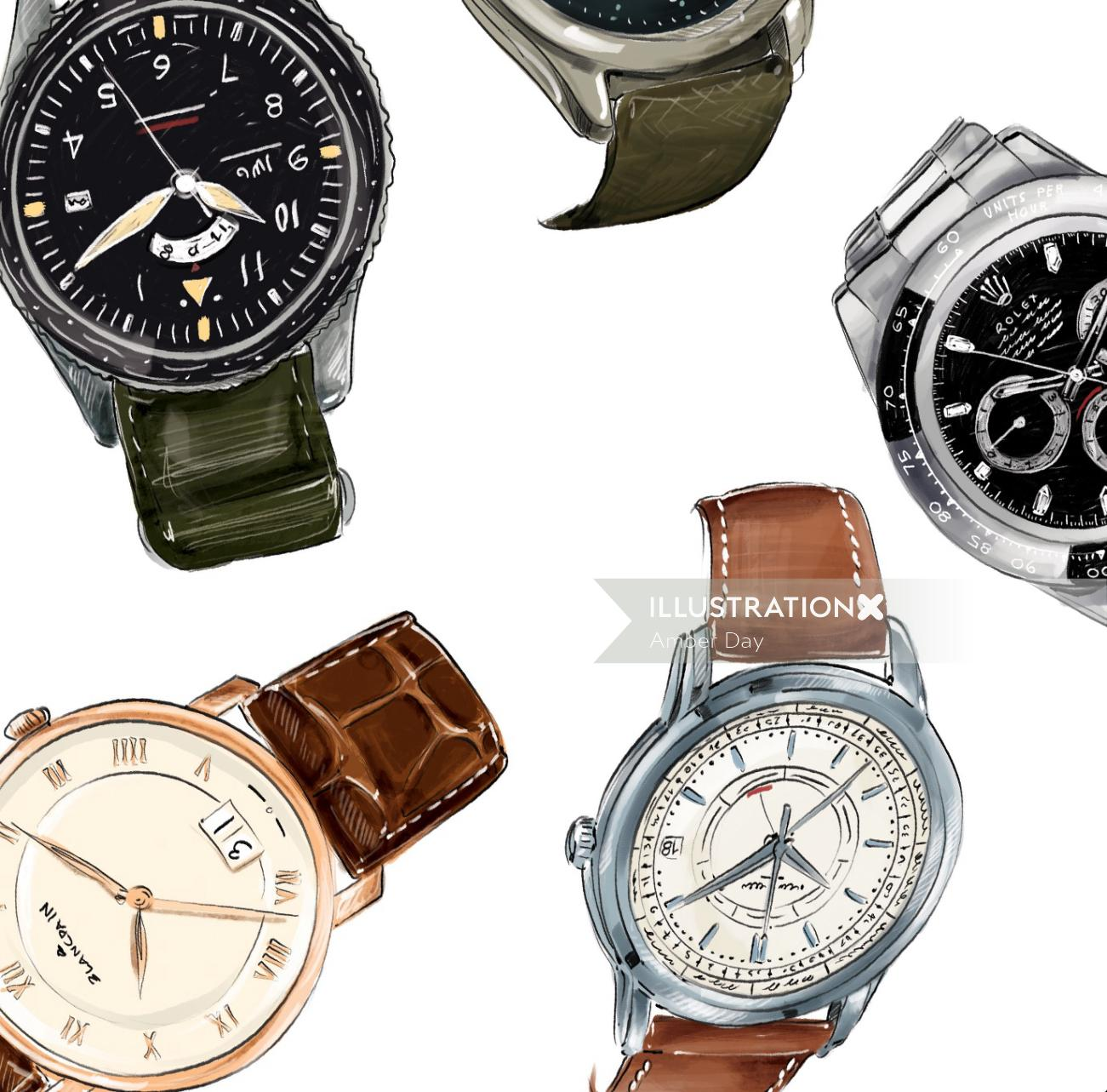 luxury, accessories, realistic, watches, men, menswear, techincal