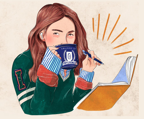 Food & Drinks girl drinking coffee