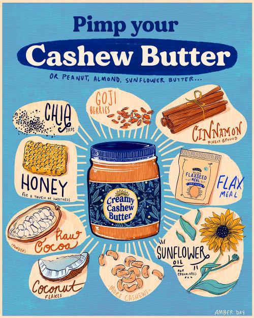 明亮,乐趣,大胆,多彩,励志,快乐,食谱,坚果,腰果,黄油,蜂蜜,椰子,可可