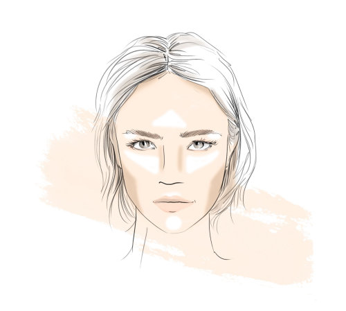 Fashion beauty line art