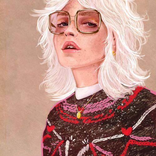 Fashion Woman with stylish glasses