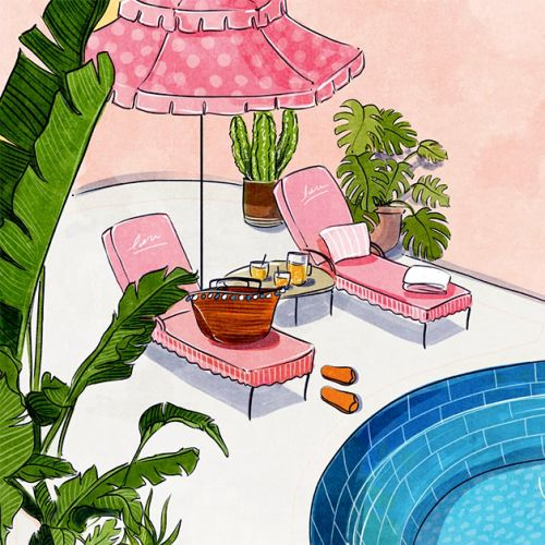 bright, fun, bold, colorful, inspirational, happy,  summer, float, pool, lounge, vacation, cactus, s