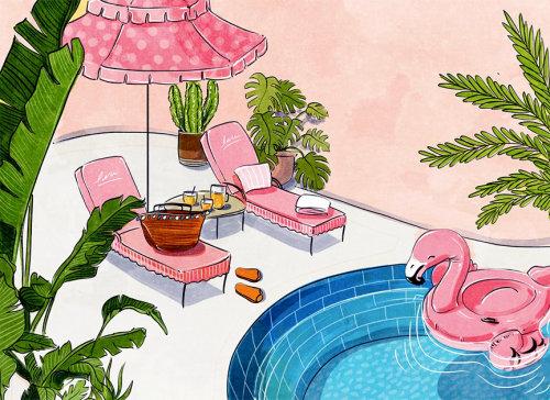 明亮,乐趣,大胆,多彩,励志,快乐,夏季,漂浮,游泳池,休闲室,假期,仙人掌,s