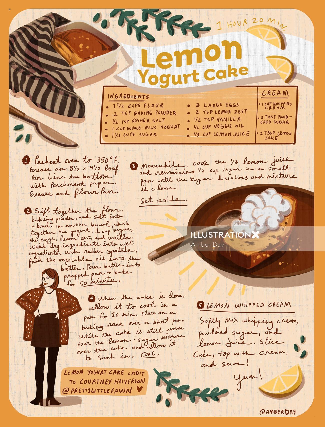 Food & Drinks Lemon Yogurt Cake
