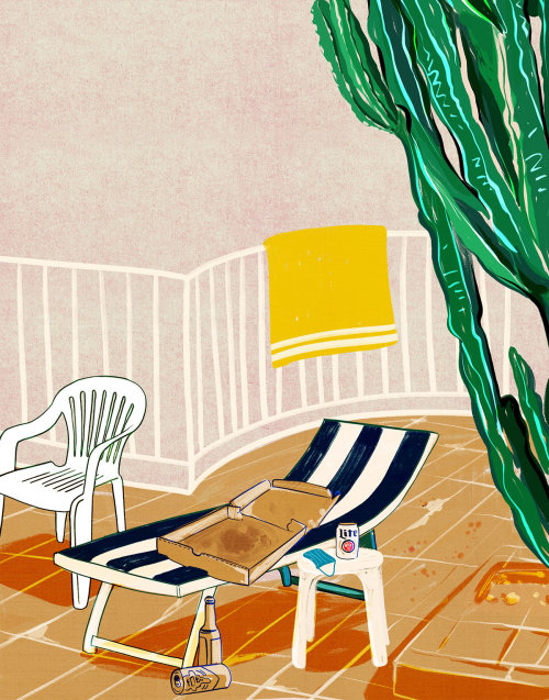Lifestyle illustration of chairs