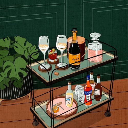 明亮,有趣,大胆,多彩,鼓舞人心,快乐,鸡尾酒,酒精,聚会,葡萄酒,香槟,奢华