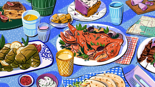 culinary, cocktail, ethnic, tapas, crab, seafood, pie, bright, inspirational, bold, editorial, color