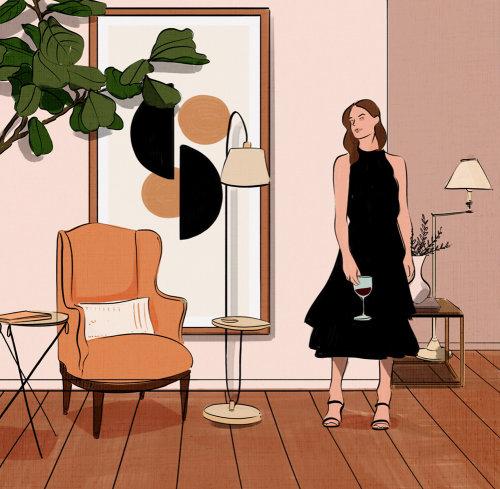 豪华,室内,跑道,高,连衣裙,模型,生活,灯,家,明亮,鼓舞人心的,大胆,edito