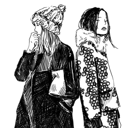 An illustration of women fashion styles