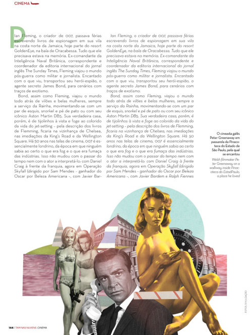 Editorial art for James Bond franchise