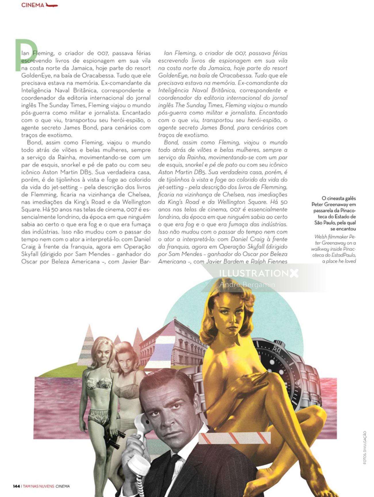 Editorial art for James Bond franchise