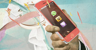 Smart phone illustration by Andre Bergamin