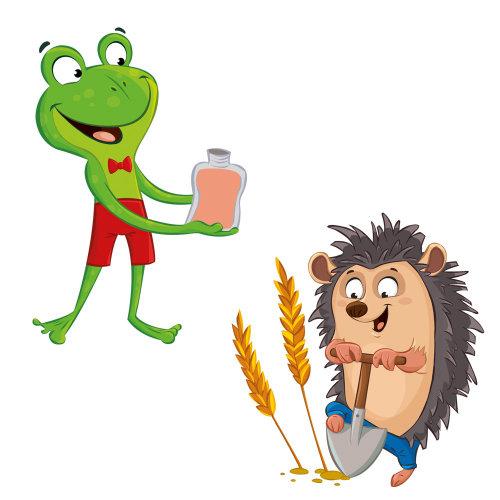 Children cartoon charcters of animals