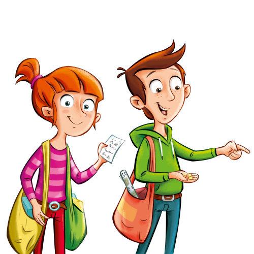 男孩和女孩的角色设计