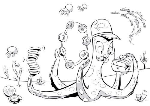 章鱼玩的线图