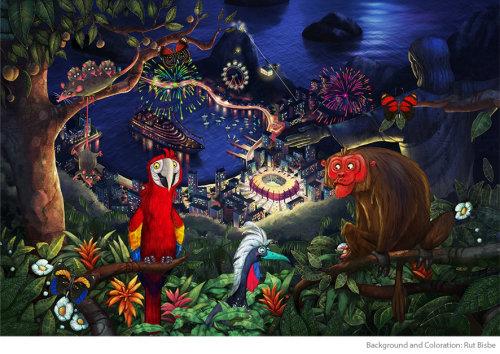 森林里见动物的角色设计