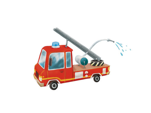 消防车的插画设计