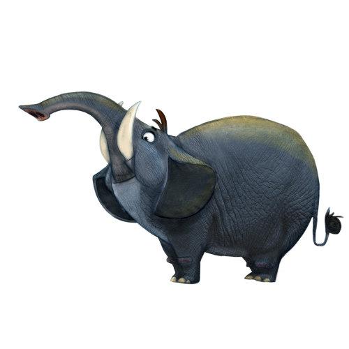 大象的真实感插图