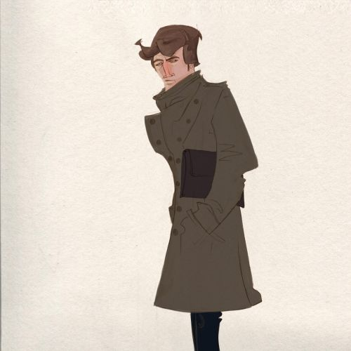 Character design of Man with coat
