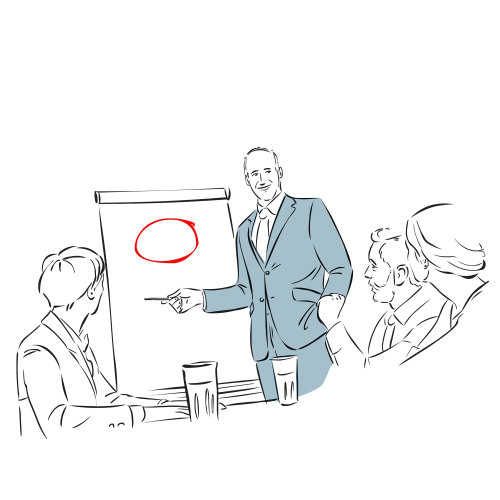 商务会议的线图