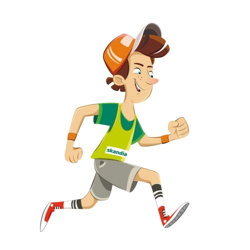 Child running away clipart