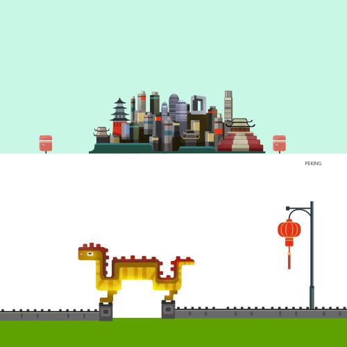 城市和龙门的插图