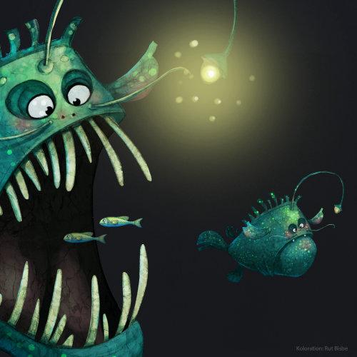 可怕的鱼的插图