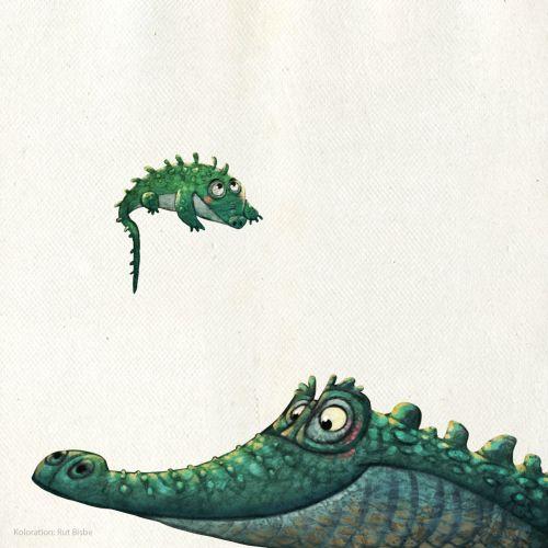 Cartoon crocodiles