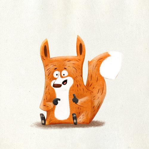 一只害怕的动物的人物插图