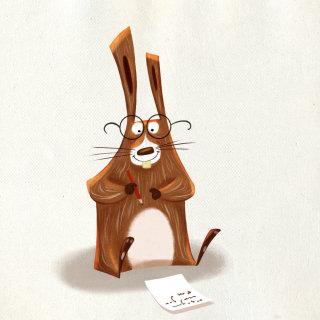 Illustration of a animal cartoon character