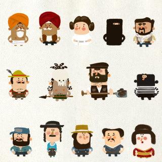 Cartoon characters of people