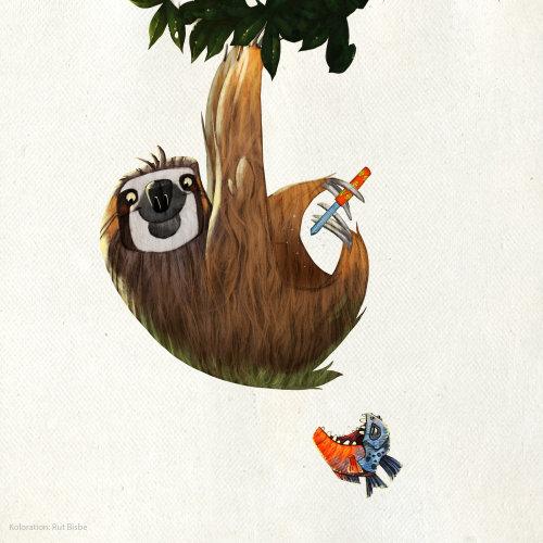 动物挂在树图
