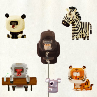 Set of Animals cartoon characters