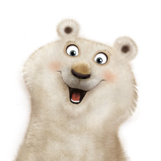 Comic artwork of funny bear