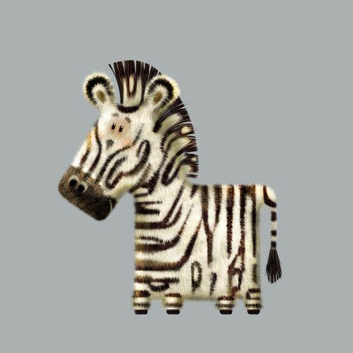 Cartoon illustration of zebra