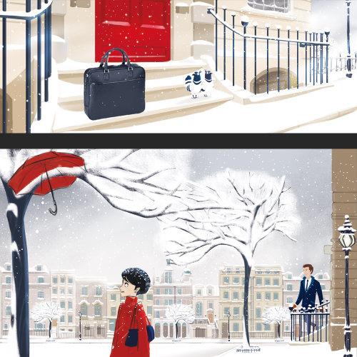 雪中人的人物插图