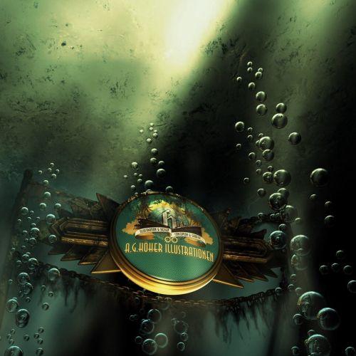 Digital painting of underwater