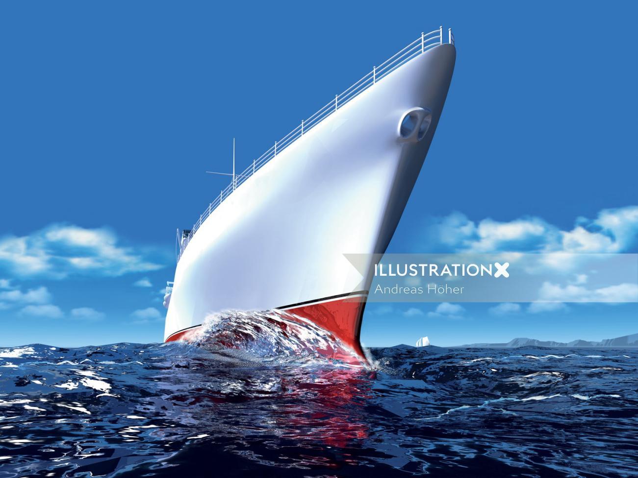 Graphic design of cruiser