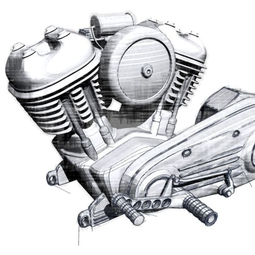 Drawing of engine