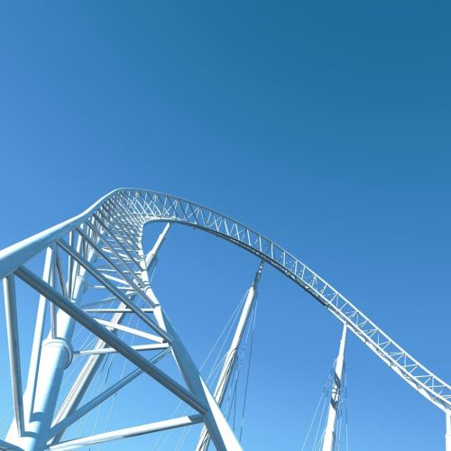 Realistic illustration of 1970 roller coaster