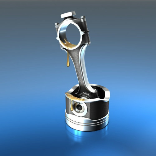 Photo realistic illustration of piston