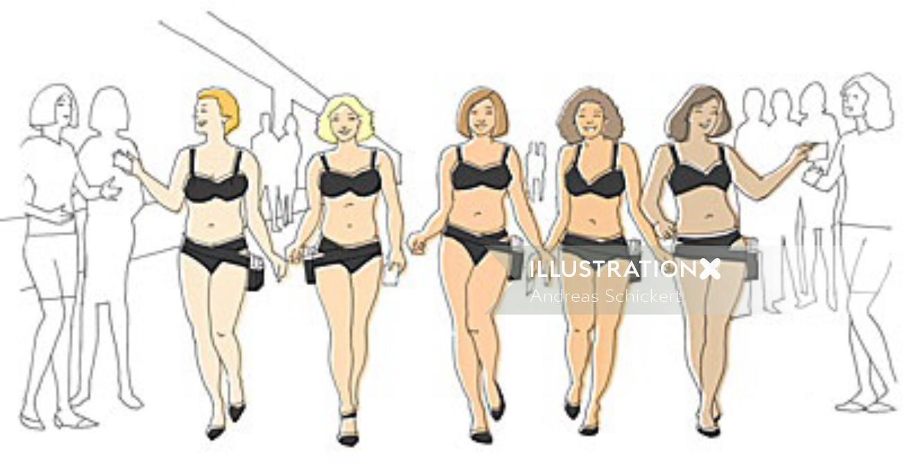 Dove Girls catwalk