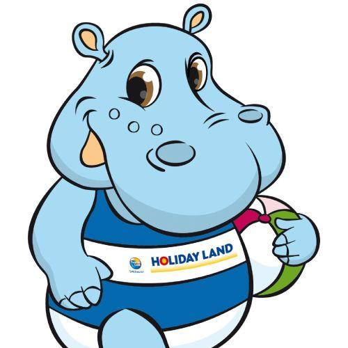 hippopotamus in swim suit